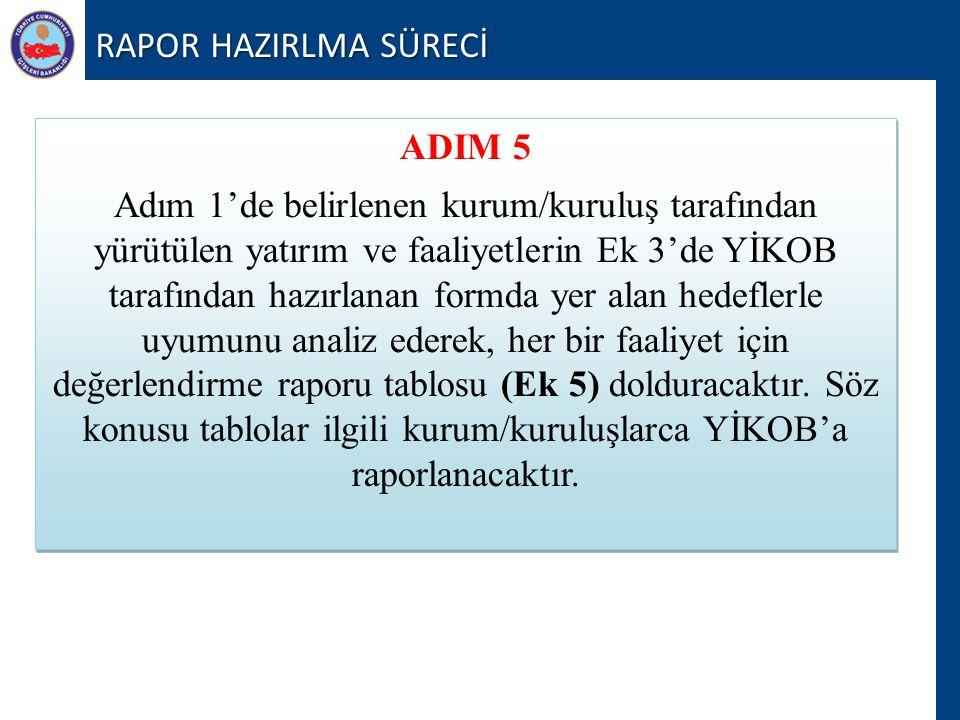 RAPOR HAZIRLMA SÜRECİ ADIM 5.