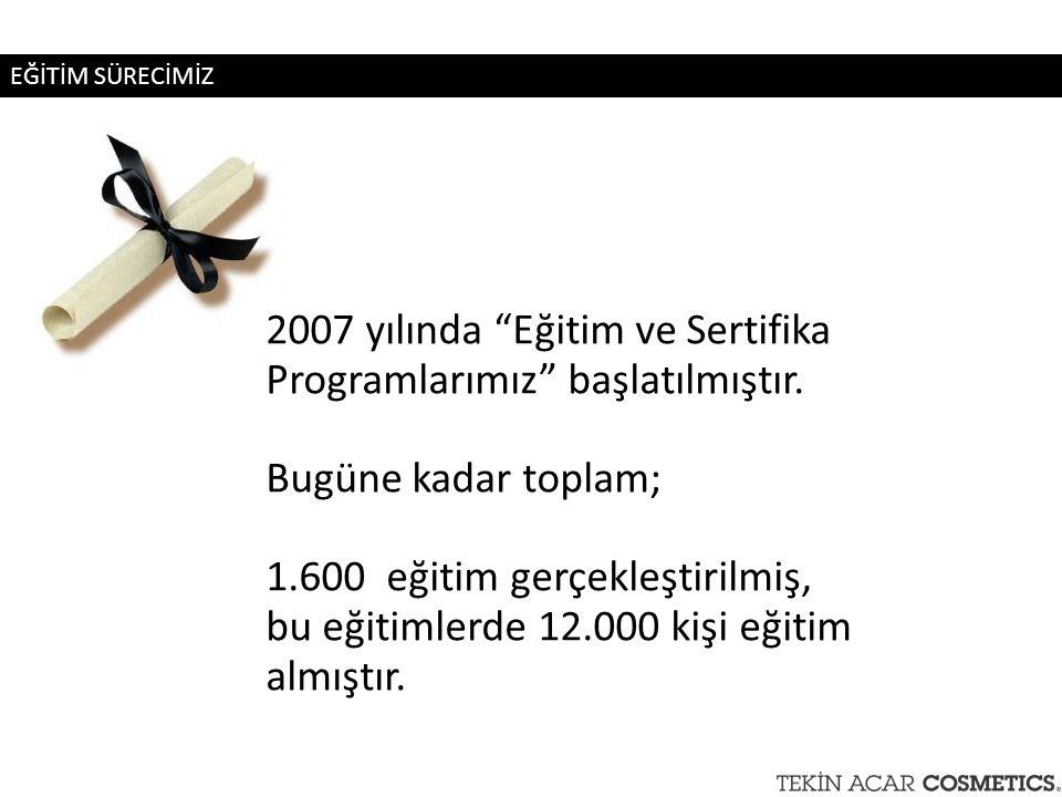 2007 yılında Eğitim ve Sertifika Programlarımız başlatılmıştır.