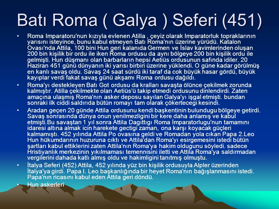 Batı Roma ( Galya ) Seferi (451)