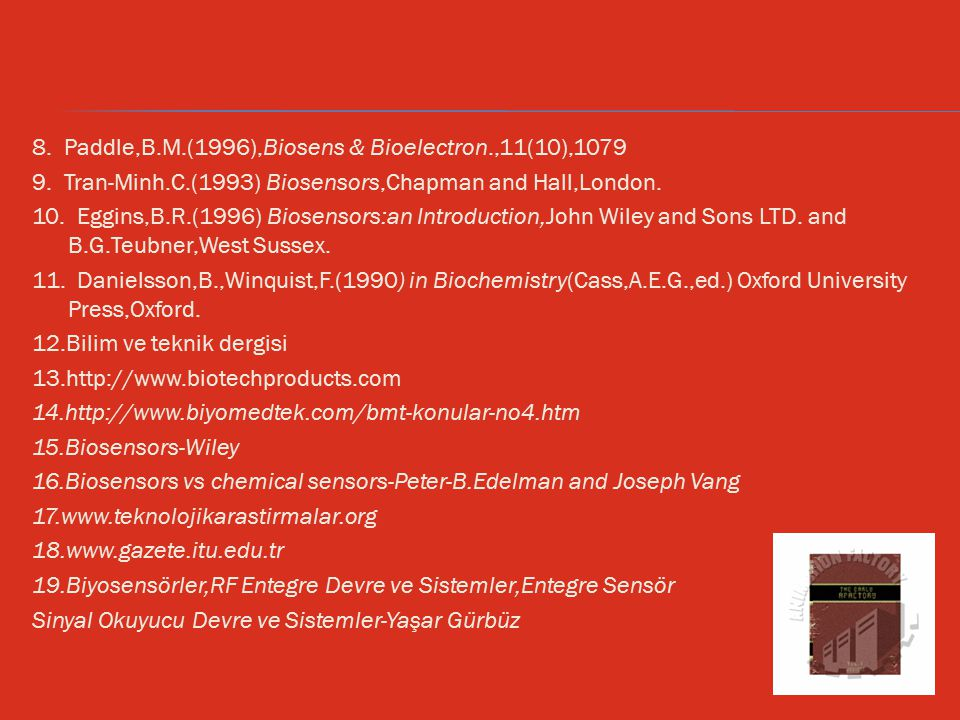 8. Paddle,B.M.(1996),Biosens & Bioelectron.,11(10),1079 9.