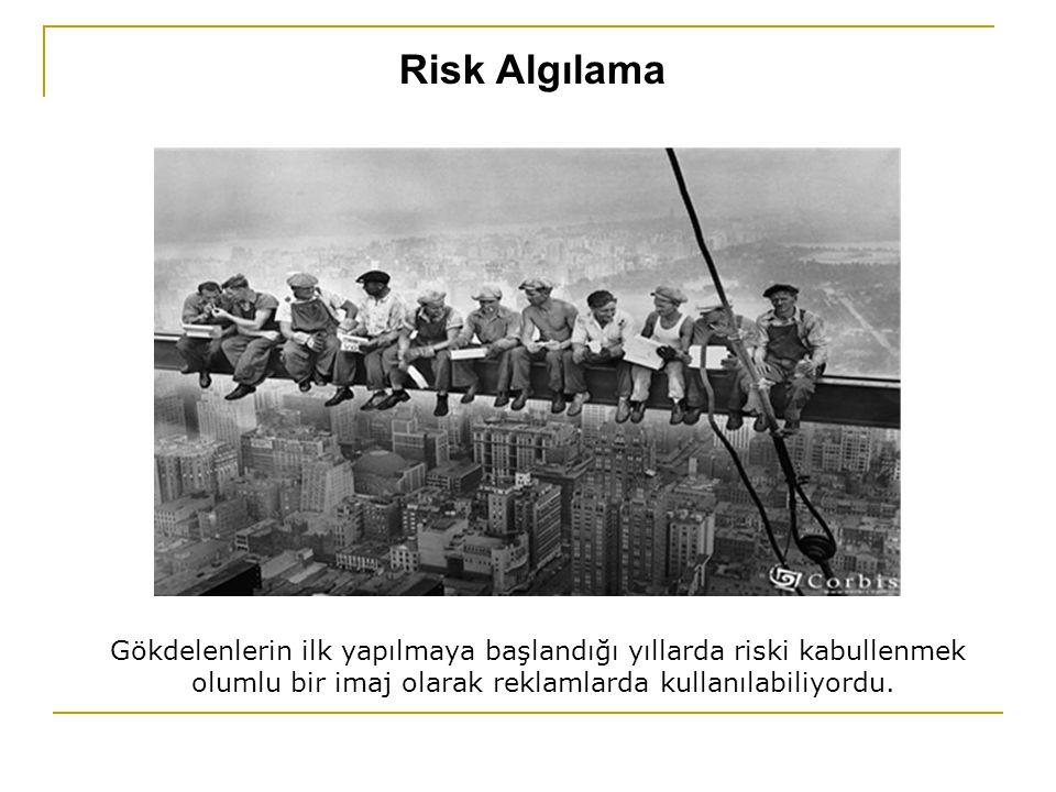 Risk Algılama Gökdelenlerin ilk yapılmaya başlandığı yıllarda riski kabullenmek.
