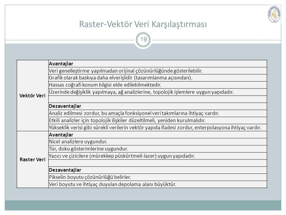 Raster-Vektör Veri Karşılaştırması