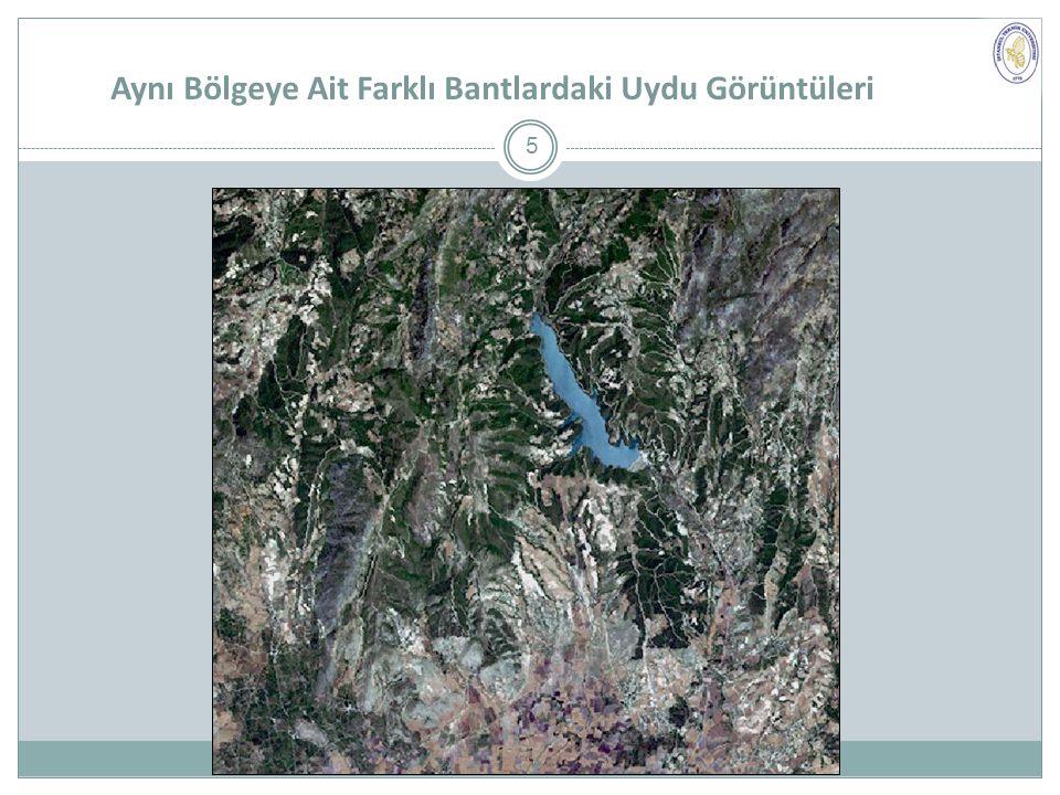 Aynı Bölgeye Ait Farklı Bantlardaki Uydu Görüntüleri