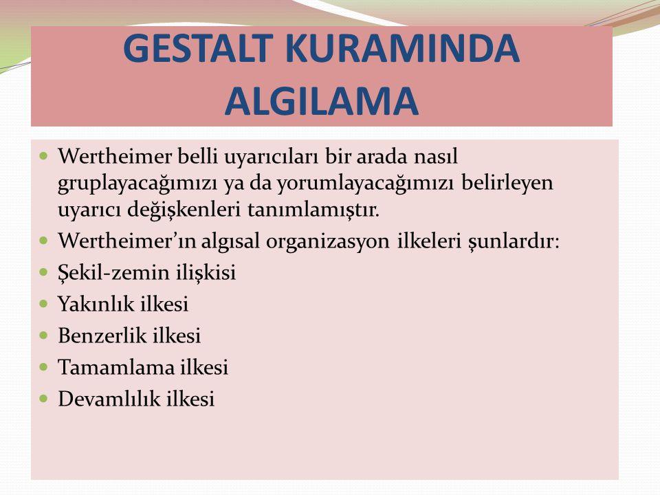 GESTALT KURAMINDA ALGILAMA