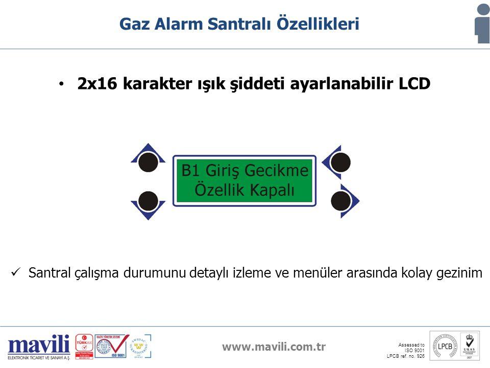 2x16 karakter ışık şiddeti ayarlanabilir LCD