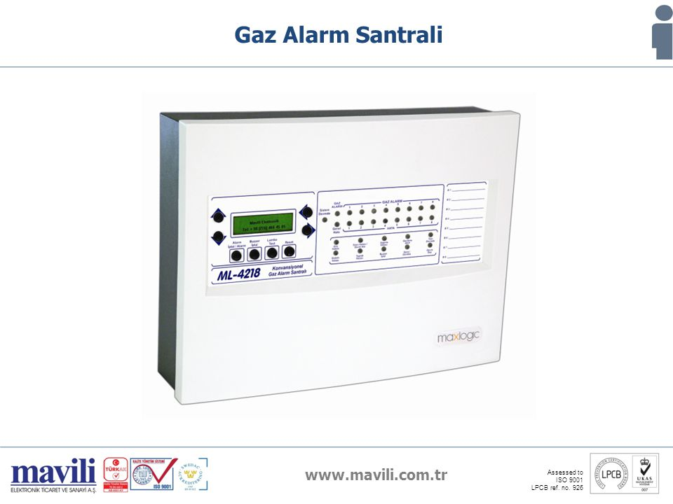 Gaz Alarm Santrali www.mavili.com.tr Assessed to