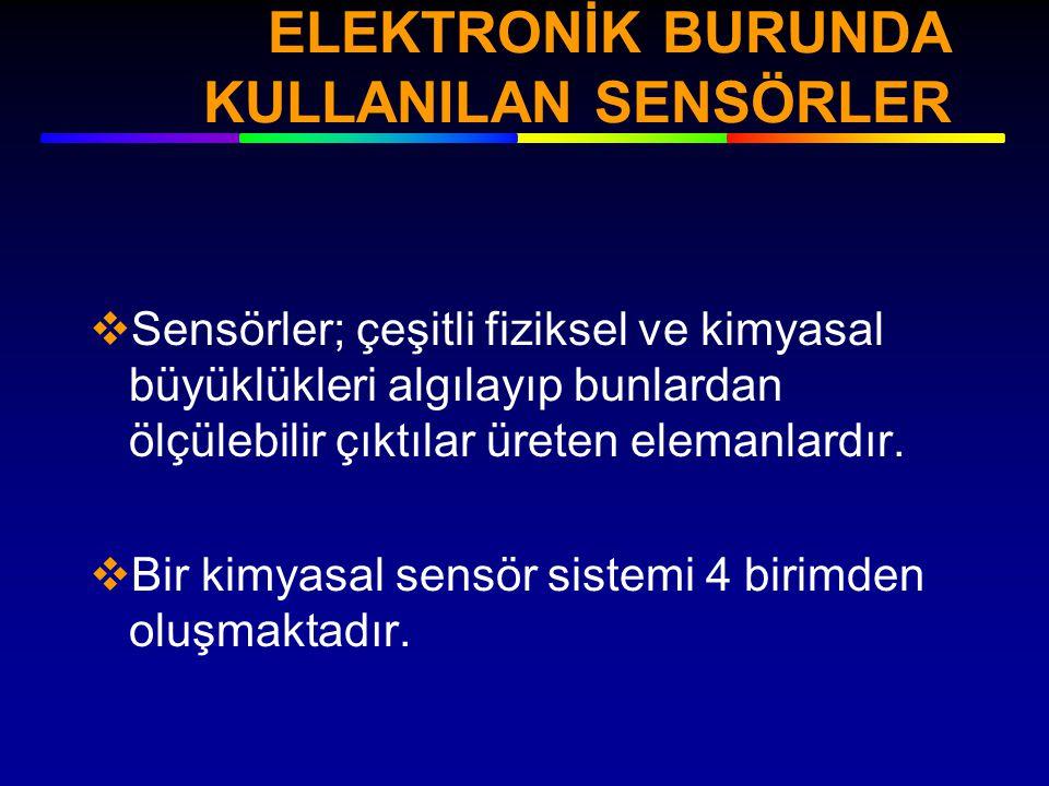 ELEKTRONİK BURUNDA KULLANILAN SENSÖRLER
