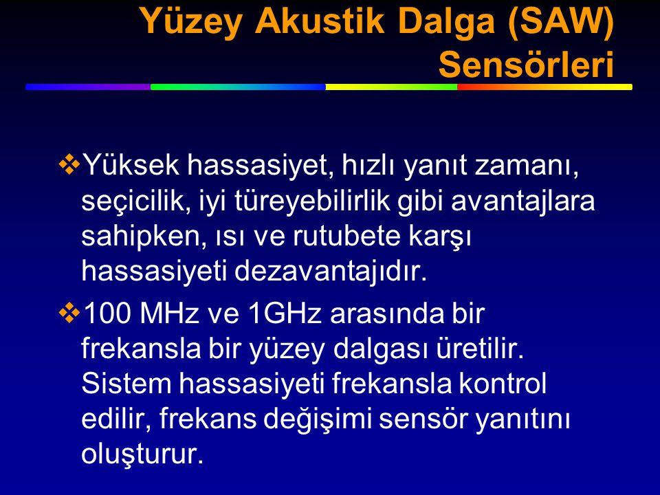 Yüzey Akustik Dalga (SAW) Sensörleri