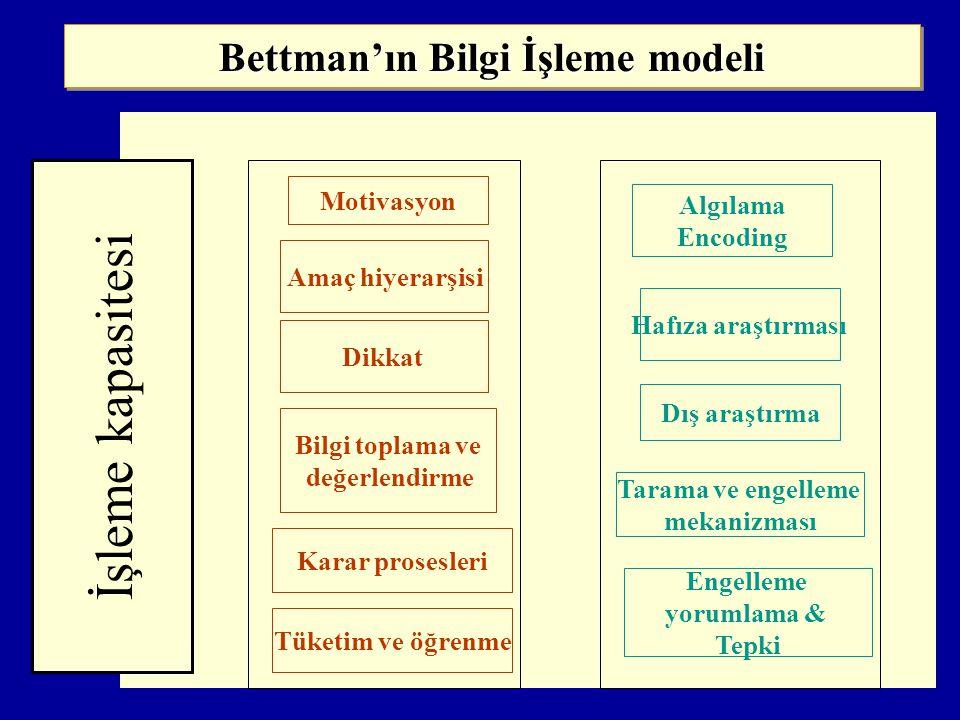 Bettman'ın Bilgi İşleme modeli