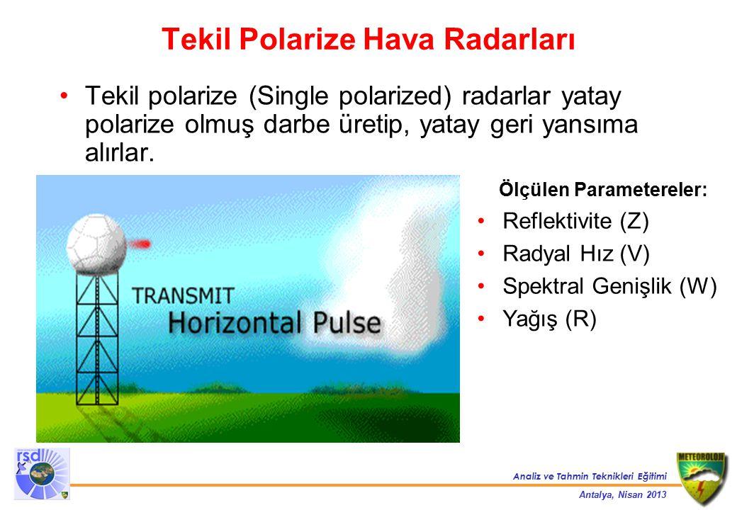 Tekil Polarize Hava Radarları