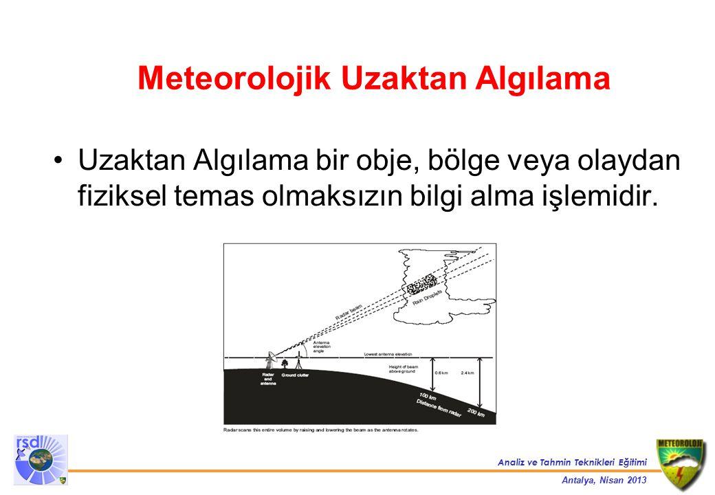 Meteorolojik Uzaktan Algılama