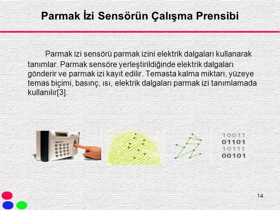 Parmak İzi Sensörün Çalışma Prensibi
