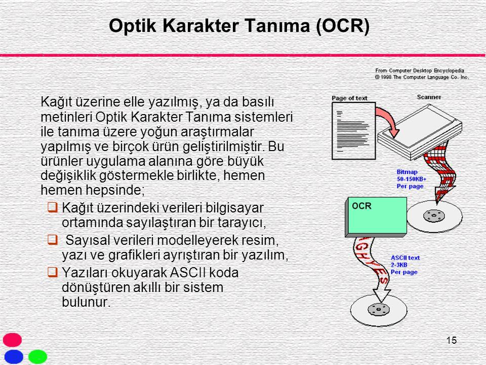 Optik Karakter Tanıma (OCR)