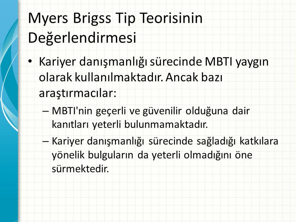 Myers Brigss Tip Teorisinin Değerlendirmesi