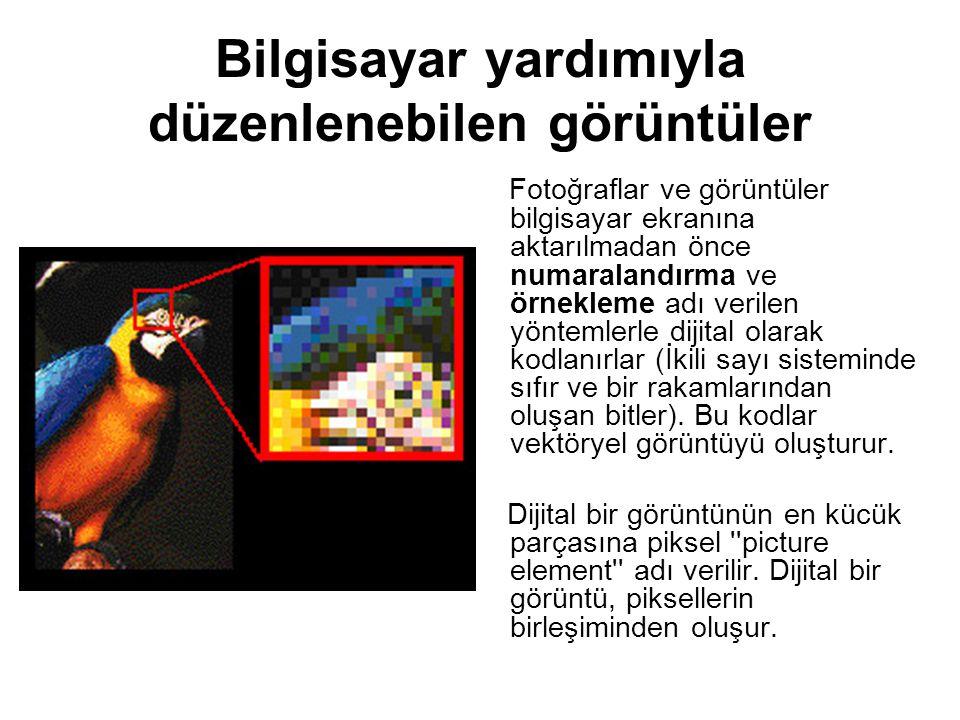 Bilgisayar yardımıyla düzenlenebilen görüntüler