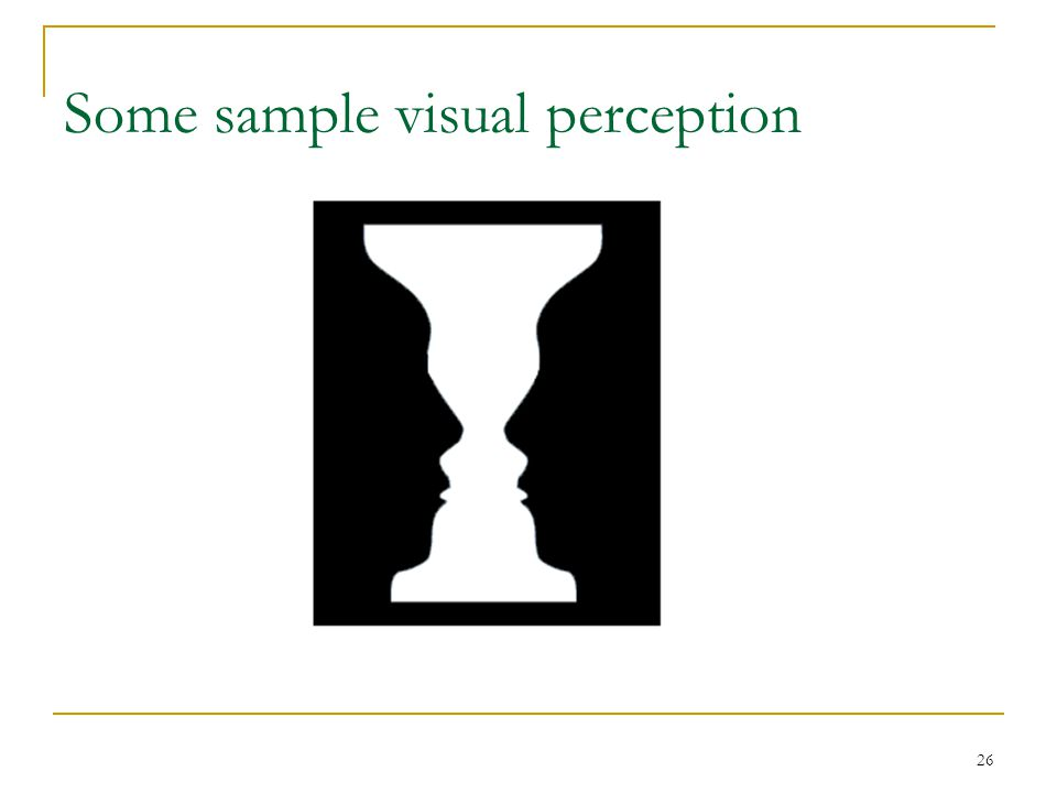 Some sample visual perception