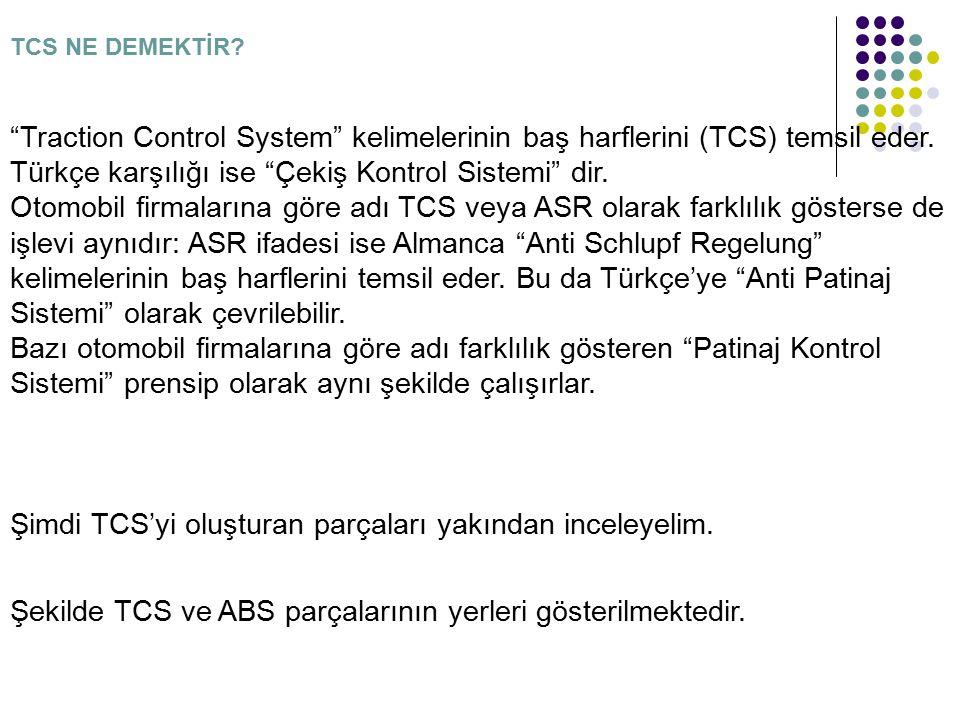 Şimdi TCS'yi oluşturan parçaları yakından inceleyelim.