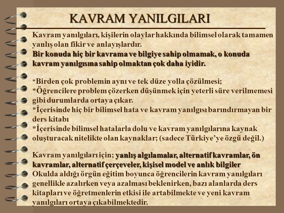 KAVRAM YANILGILARI