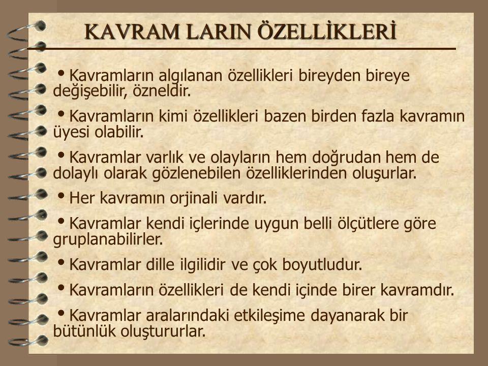 KAVRAM LARIN ÖZELLİKLERİ