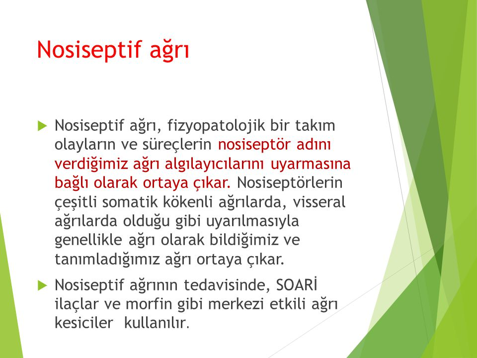 Nosiseptif ağrı