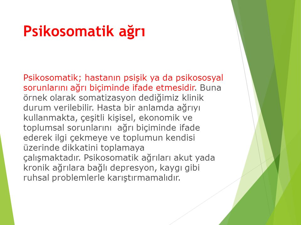 Psikosomatik ağrı