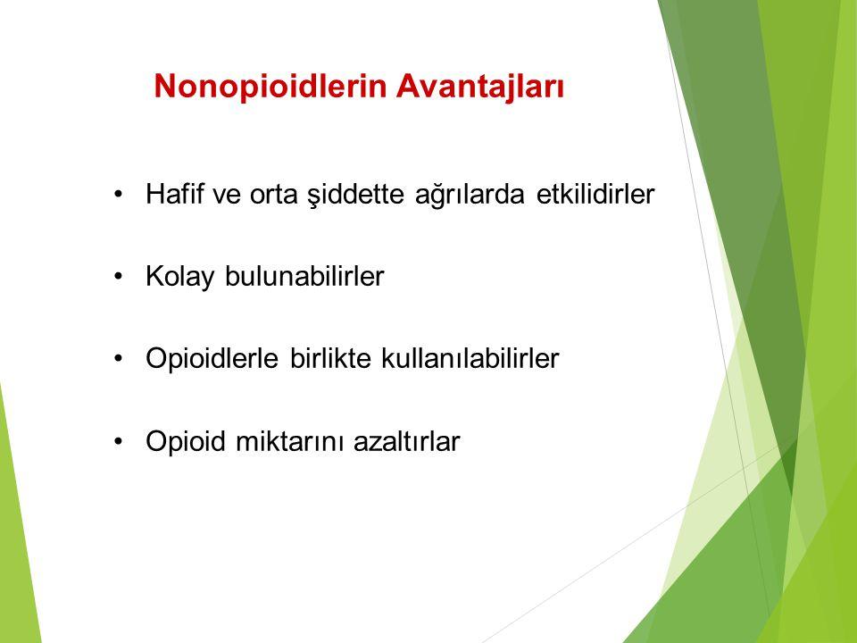 Nonopioidlerin Avantajları