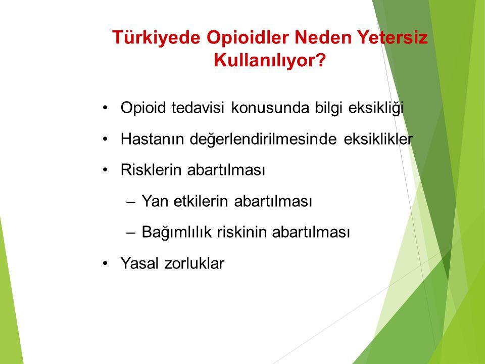 Türkiyede Opioidler Neden Yetersiz Kullanılıyor