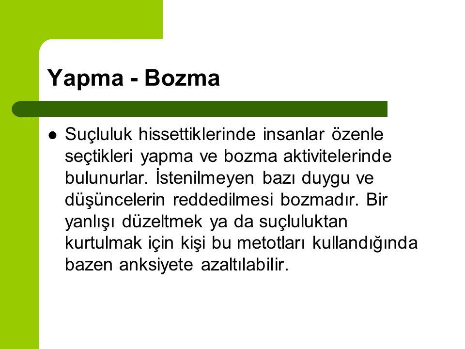 Yapma - Bozma