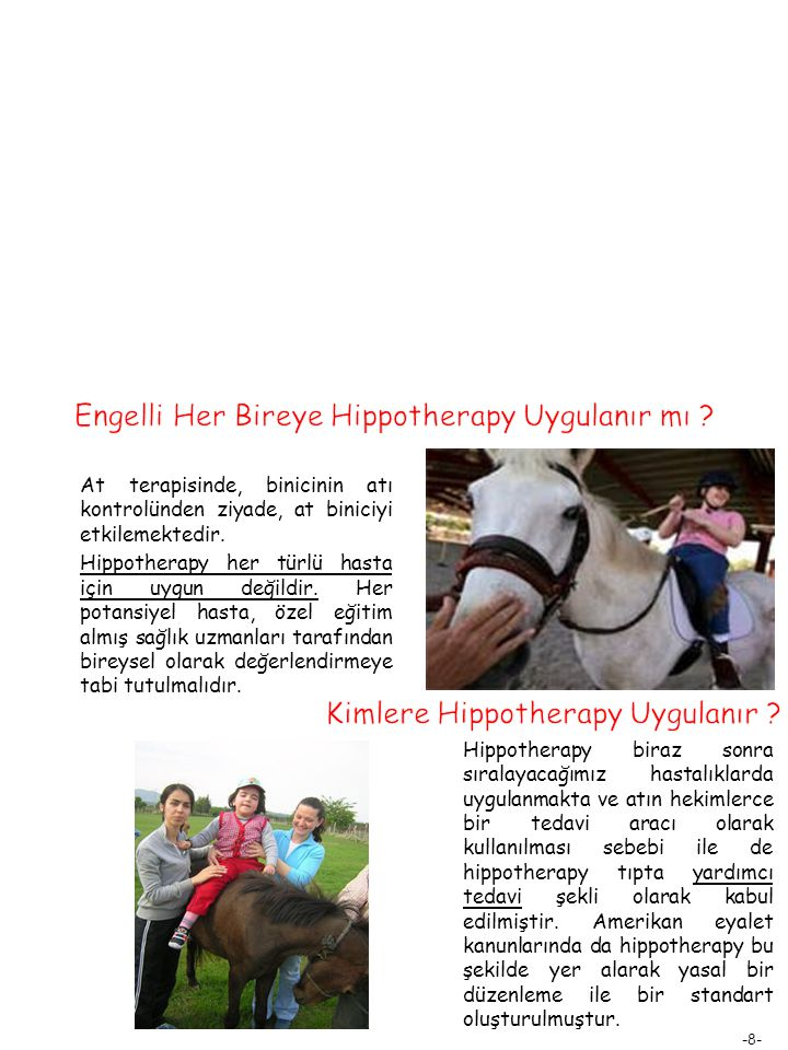 Engelli Her Bireye Hippotherapy Uygulanır mı