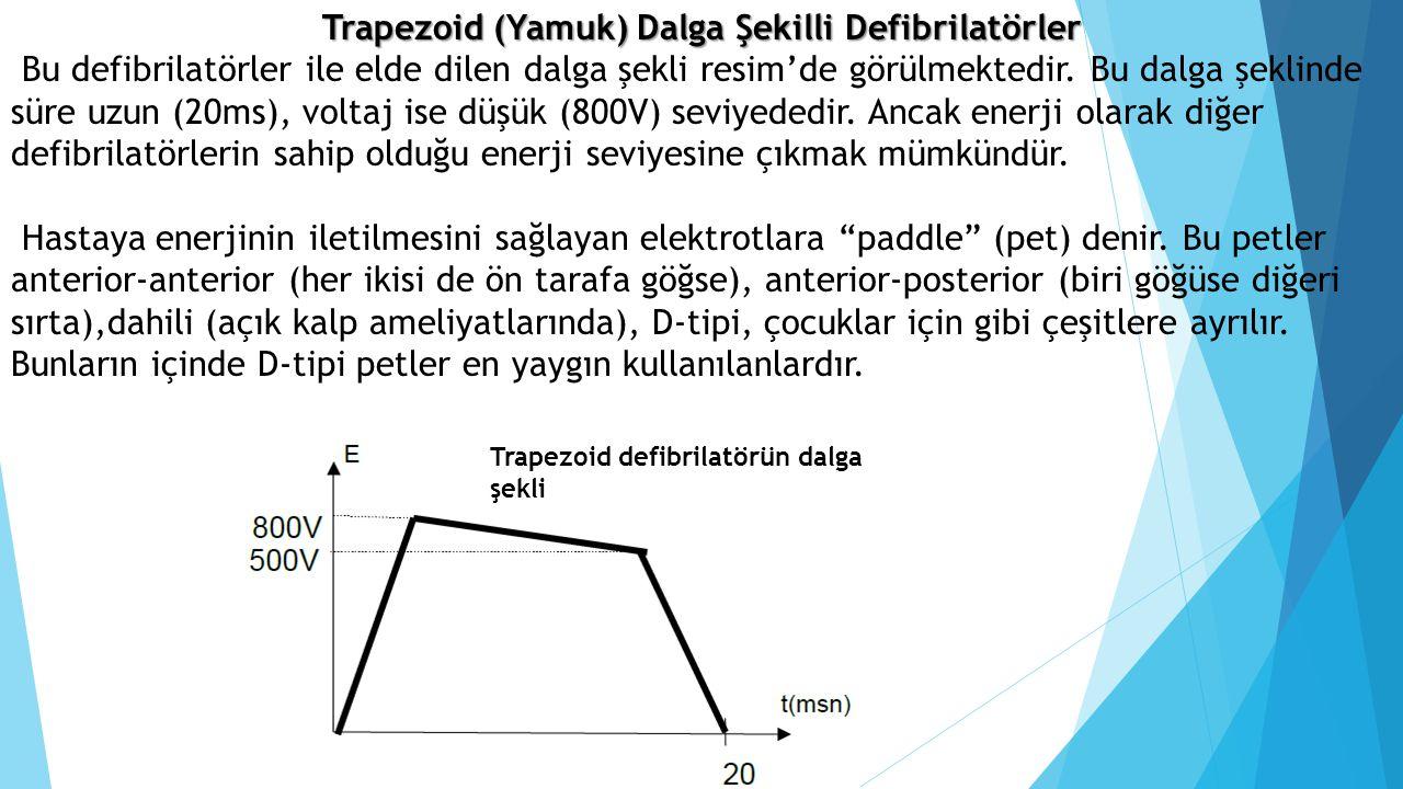 Trapezoid (Yamuk) Dalga Şekilli Defibrilatörler