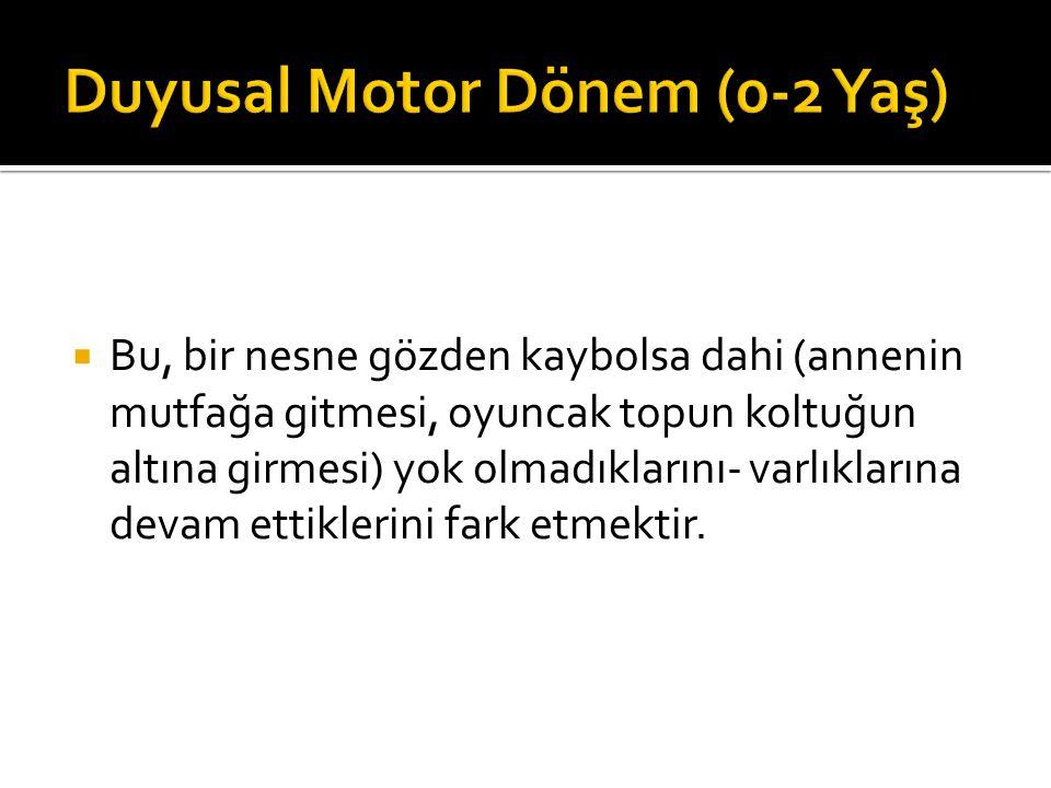 Duyusal Motor Dönem (0-2 Yaş)