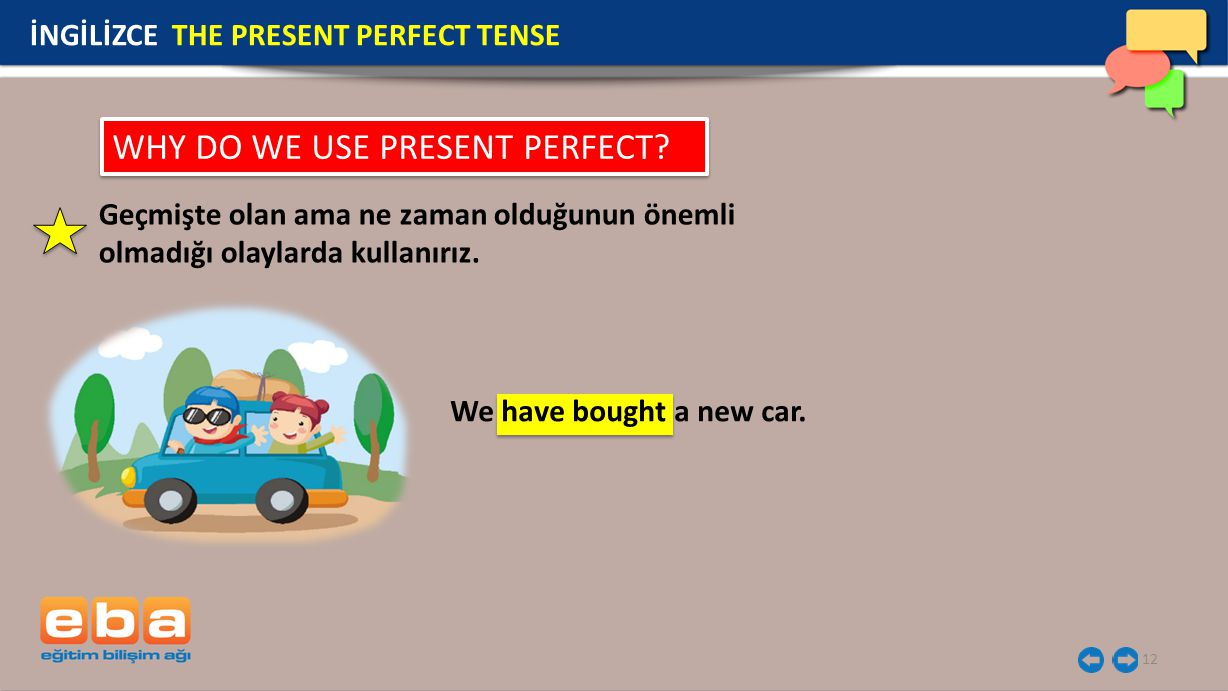 WHY DO WE USE PRESENT PERFECT