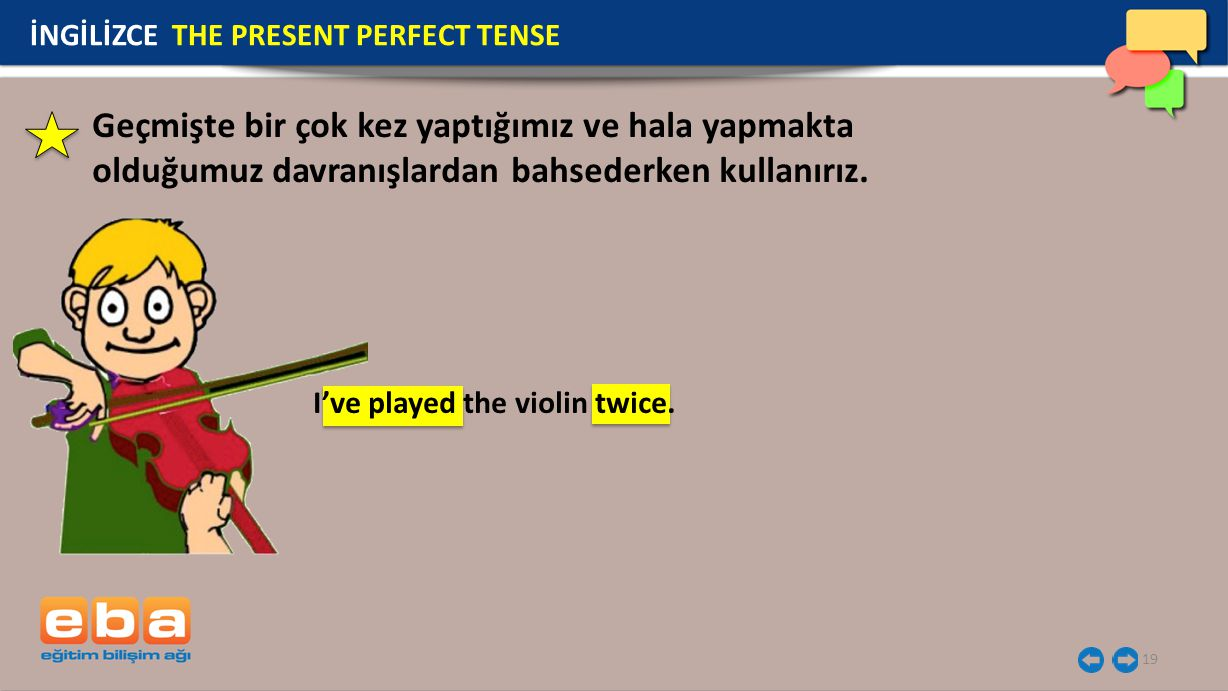 İNGİLİZCE THE PRESENT PERFECT TENSE