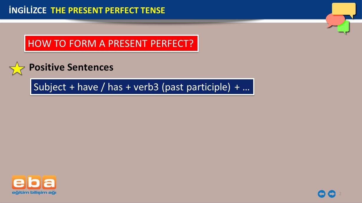 HOW TO FORM A PRESENT PERFECT