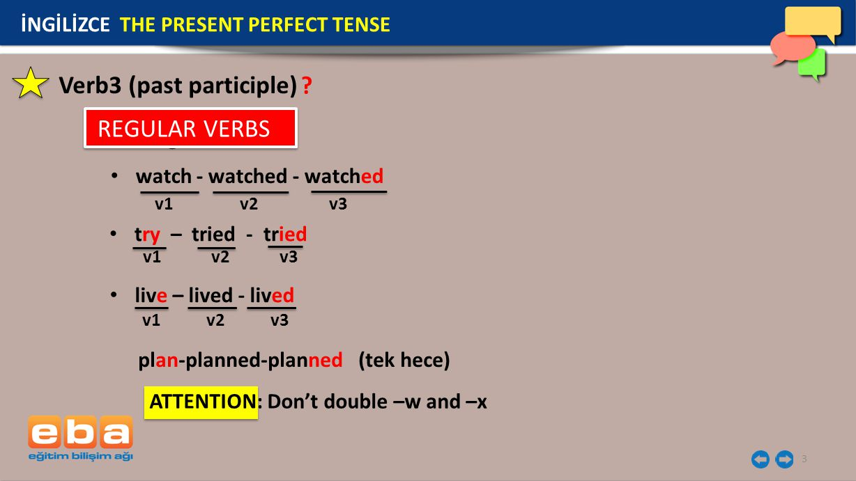 Verb3 (past participle)