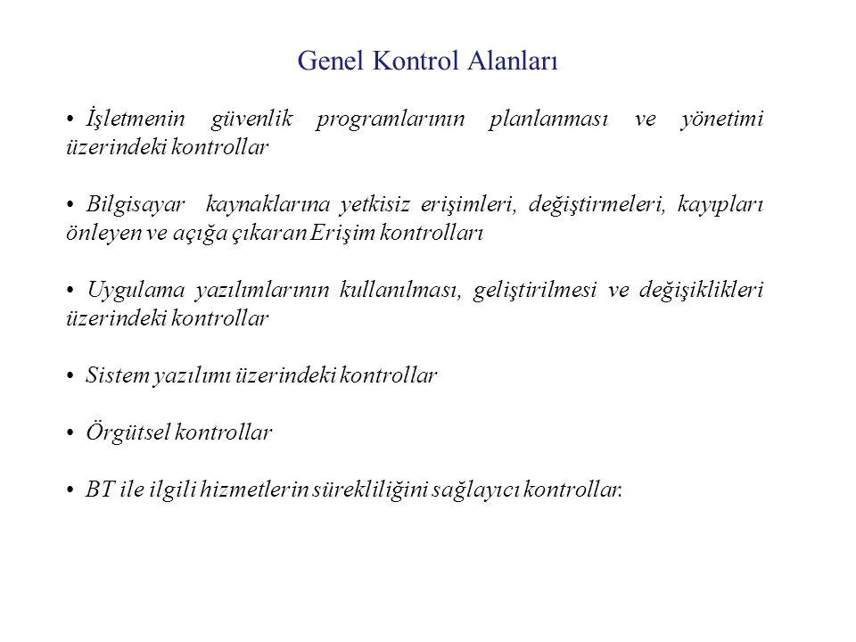 Genel Kontrol Alanları