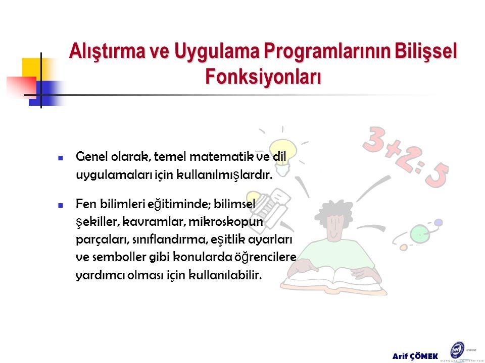 Alıştırma ve Uygulama Programlarının Bilişsel Fonksiyonları