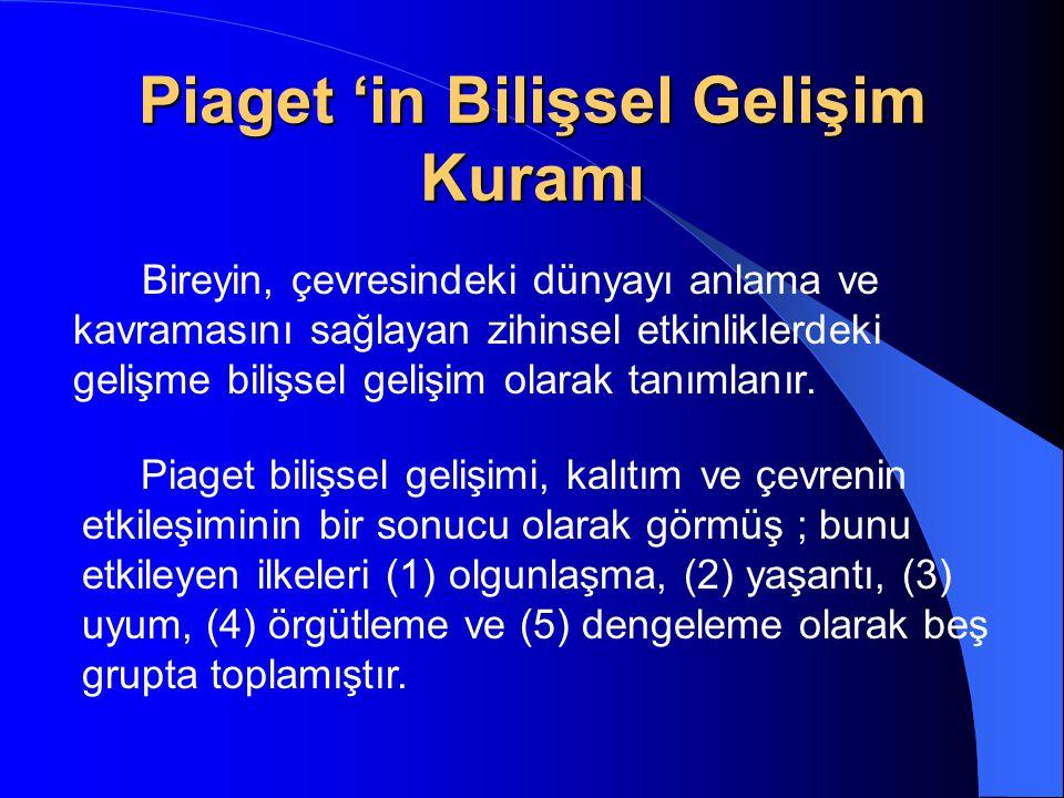 Piaget 'in Bilişsel Gelişim Kuramı