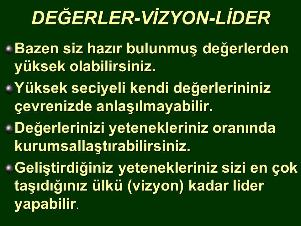 DEĞERLER-VİZYON-LİDER