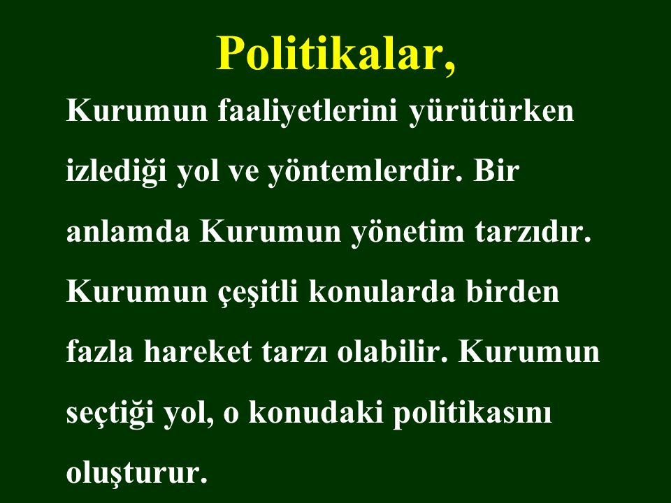 Politikalar,
