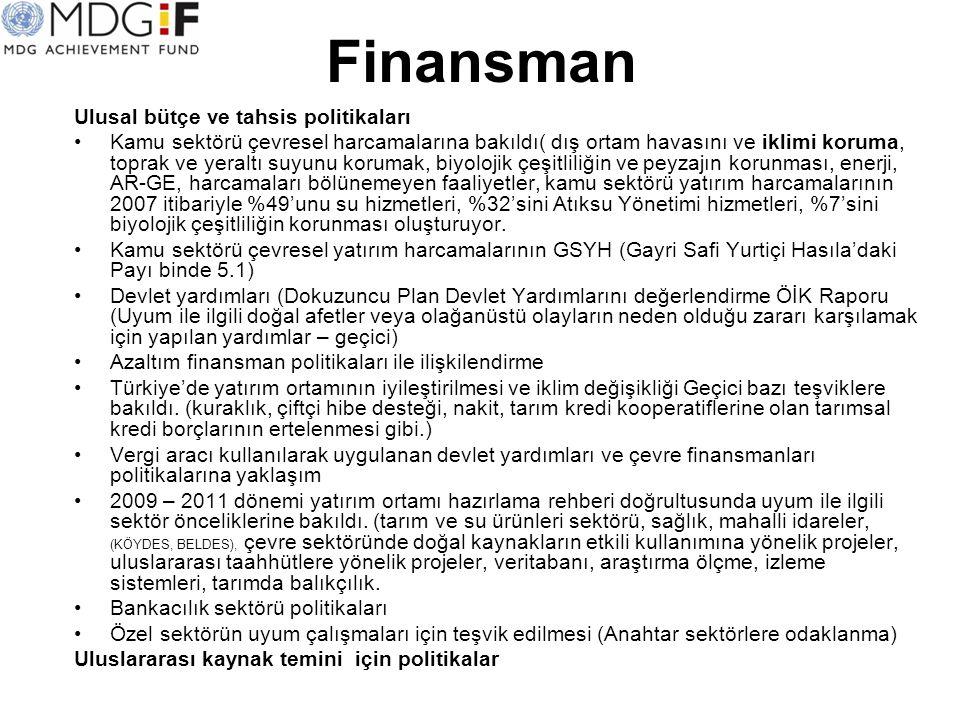 Finansman Ulusal bütçe ve tahsis politikaları