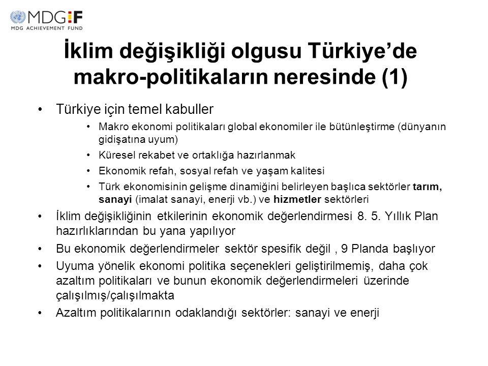 İklim değişikliği olgusu Türkiye'de makro-politikaların neresinde (1)
