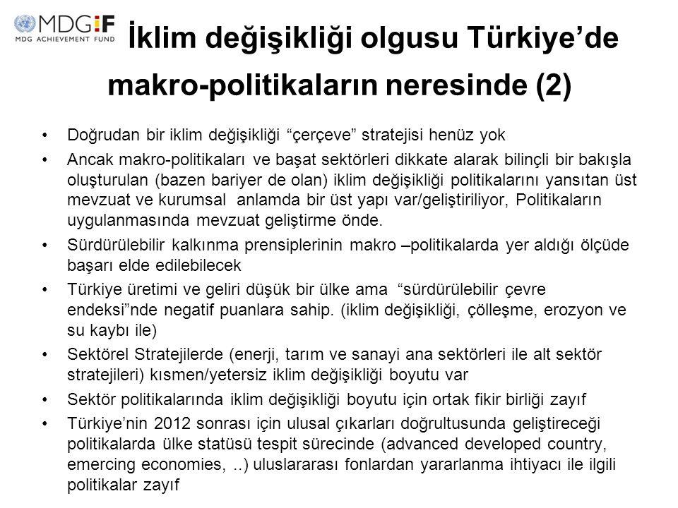 İklim değişikliği olgusu Türkiye'de makro-politikaların neresinde (2)