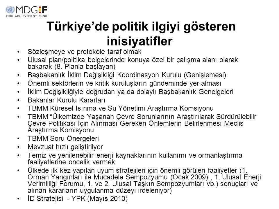Türkiye'de politik ilgiyi gösteren inisiyatifler