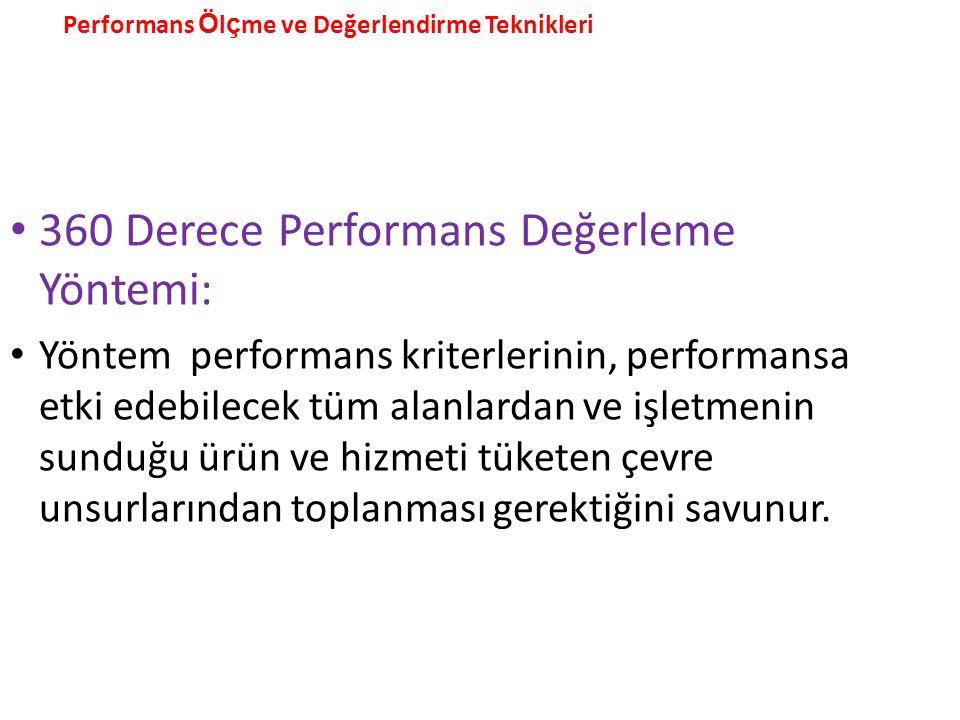 360 Derece Performans Değerleme Yöntemi: