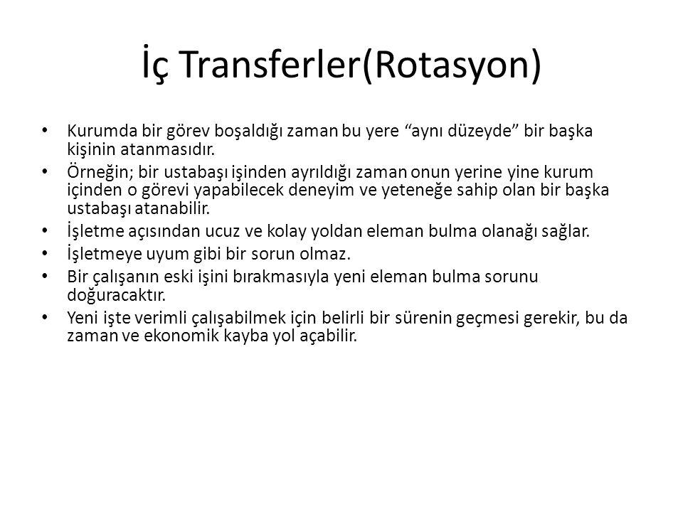 İç Transferler(Rotasyon)