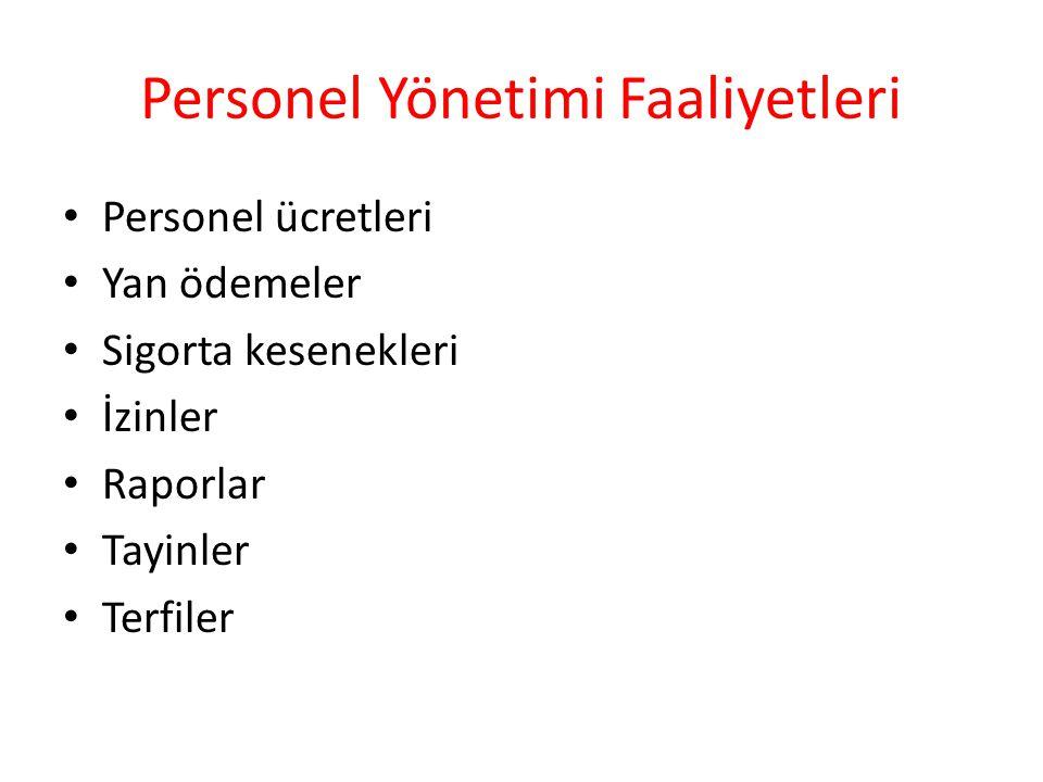 Personel Yönetimi Faaliyetleri