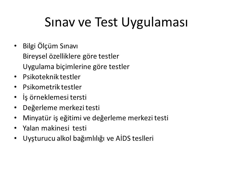 Sınav ve Test Uygulaması