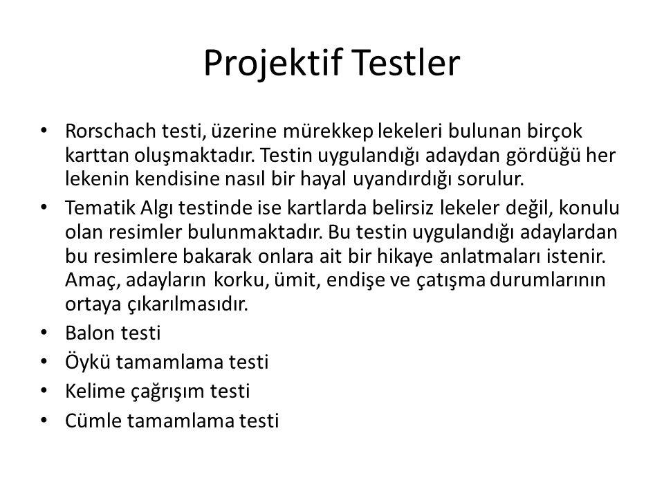 Projektif Testler