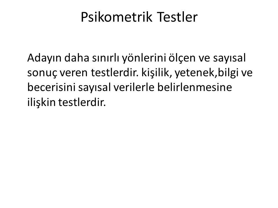 Psikometrik Testler